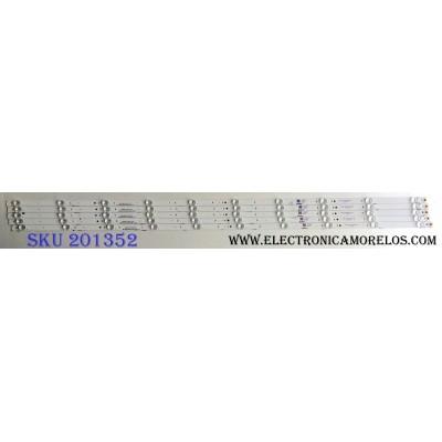 KIT DE LED´S PARA TV (5 PIEZAS) / HISENSE CRH-BK55S1U51S3030T05107BE-REV1.3 B / L05BY162K21D83F-B1 / 1187275 / PANEL`S HD550S1U51-T0\S1\GM\ROH 228720 / HD550S1U51-T0 / MODELO 55H6E