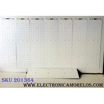 KIT DE LED´S PARA TV (8 PIEZAS) / SAMSUNG 520004 / 52INCH 2007.04.13 / H622 / PANEL LTA520HA05-V01 / MODELOS LNT5281FX/XAA SN01 / LNT5281FX