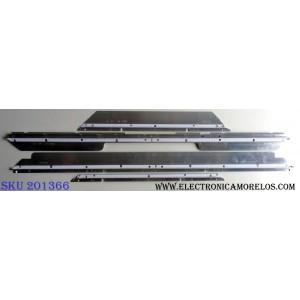 KIT DE LED´S PARA TV (4 PIEZAS) / SAMSUNG LMB-4000BM01 / LJ64-01757A / LJ64-01756A / LJ64-01758A / D090411A0 / PANEL LTF400HF08-A01 / MODELOS UN40B6000VFXZA SQ01 / UN40B6000VFXZA