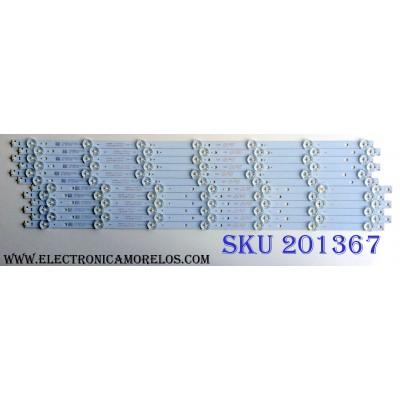 KIT DE LED´S PARA TV (12 PIEZAS) / TOSHIBA 4708-K55WDR-A1213K21 TYPE-A / 4708-K55WDR-A1213K31 TYPE-B / K550WDR / 471R1P79 / K550WDR116C082 / S-T300-B4-S-Z32 / PANEL ST5461DD42 / SERIE H07A413F025839 / MODELO K550WDR1