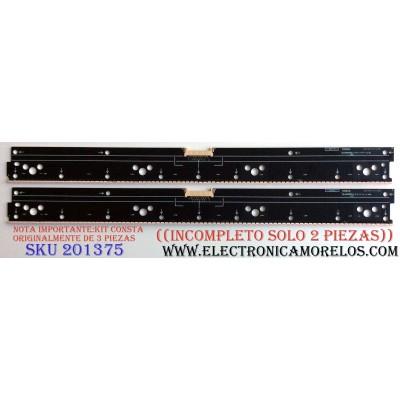 KIT DE LED´S PARA TV (SOLO 2 PIEZAS) / ((INCOMPLETO)) / SONY 6031402-412-0333 / 6031402-412-0334 / 6031402-412-0284 / NLAW50351 LS1 / NLAW50351 LS2 / NLAW50351 LS4 / PANEEL YD5S650HTG01 / MODELOS XBR-65X900C / XBR-55X900C