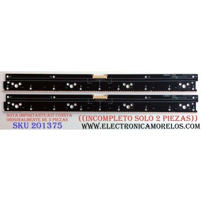 KIT DE LED´S PARA TV (SOLO 2 PIEZAS) / ((INCOMPLETO)) / SONY 6031402-412-0333 / 6031402-412-0334 / 6031402-412-0284 / NLAW50351 LS1 / NLAW50351 LS2 / NLAW50351 LS4 / PANEL YD5S650HTG01 / MODELOS XBR-65X900C / XBR-55X900C