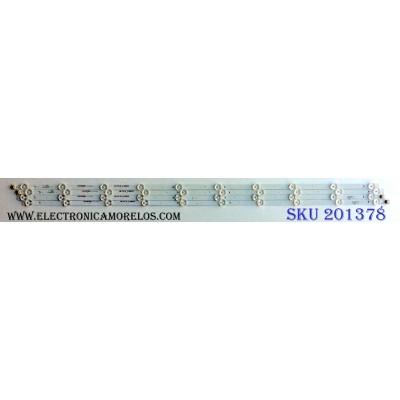 KIT DE LED´S (4 PIEZAS) / ELEMENT 3P43DX005-A0 / 0343DX008 / A707120229 / A707120231 / A707120214 / A707120216 / E471763 / PANEL MD4312YTAU / MODELO E4SFC4317