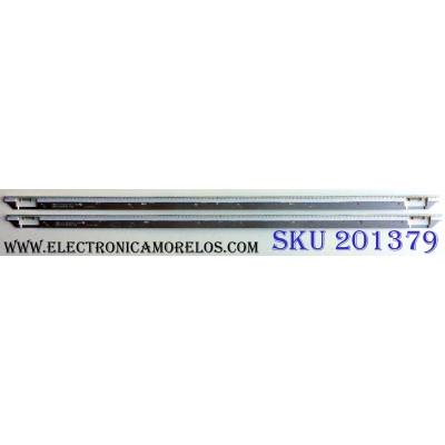 KIT DE LED´S PARA TV (2 PIEZAS) / SAMSUNG BN64-02086A / NNB2 65¨ BRACKET LED #1 D3G1 / 12052700 / 12052400 / PANEL CY-FE650DSAV2V / FE650DSA-V2 / MODELO LH65MEBPLGA / ZA AH01