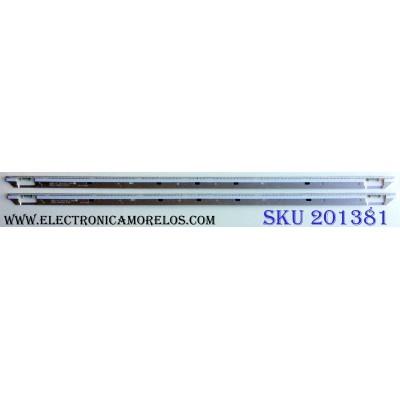 KIT DE LED´S PARA TV (2 PIEZAS) / SAMSUNG BN64-02086A / NNB2 65¨ BRACKET LED #1 D3G1 / 12110300 / 12110300 / PANEL CY-FE650DSAV3H/ MODELO LH65MEBPLGA / ZA AH01
