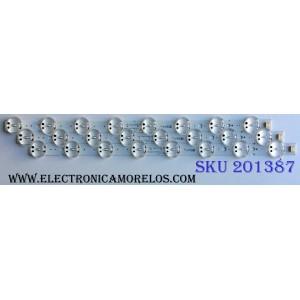 KIT DE LED´S PARA TV (3 PIEZAS) / LG SSC_Trident_43UK65_S / EAV63992501 / SSC_43UK65(LGD)_8LED_SVL430A62_REV1.0_171201 / PTFB 24W2B / PTFB24W2B / _171201 / EAV6 3992 501 LGD 43062 / PANEL HC430DQG-SLUR2-914X / 43UK6500AUA BUSWLJM