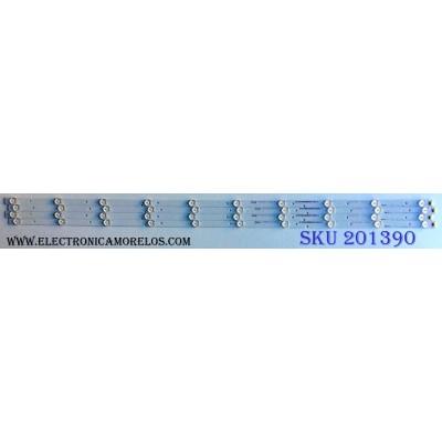 KIT DE LED´S PARA TV (4 PIEZAS) AVERA 1181835 / HISENSE_49_HD490DF-B71_4X10_3030C / 124MA31RR-B1 / HE49RFKQ1X70 / PANEL LSC490FN03 / MODELO 49EQX10