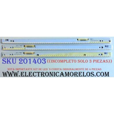 KIT DE LED´S PARA TV (SOLO 3 PIEZAS) / ((INCOMPLETO)) / SAMSUNG VH70-650SMB-R0 / VH70-650SMA-R0 / BN96-30563A / BN96-30564A / HJMT-1 / 94V-0 / 1428 / PANEL CY-SH065DSLV2H / MODELOS UN65H7100AFXZA TH01 / UN65H7100AFXZA / UN65H7150AFXZA / HG65NC890XFXZA