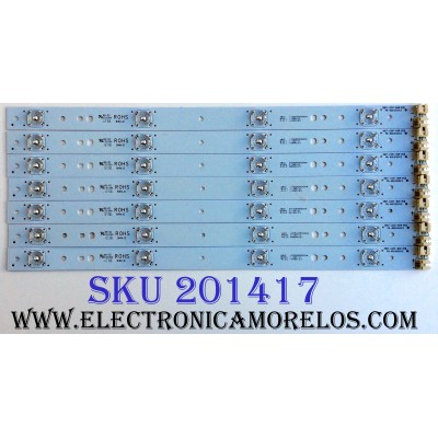 KIT DE LED´S PARA TV (7 PIEZAS) / APEX 39D7-LIGHT-BAR-PCB / 6003050412 / 6050050004 / PANEL´S V390HJ1-P02 / T390HVN01.V0 / MODELO PLDED3992A