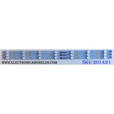KIT DE LED´S PARA TV (3 PIEZAS) / VIZIO LB32086 V0_01 / 1B5620000YA0 / 210BZ07DOM3030C05L / PANEL TPT315B5-FHBN0K / MODELOS D32X-D1 LTTUUKJS / D32X-D1