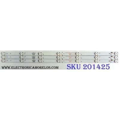 KIT DE LED´S PARA TV (4 PIEZAS) / ELEMENT KSKK32D07-ZC21FG-04 / 303KK320036 / E320262 / PY64152 / E22/E/7 / 120-125-3.9-3.0 / 2010024994-2 / 170115A5 / 21005583 / KK320M11 / PANEL HV320WHB-N81 / MODELO ELEFW328