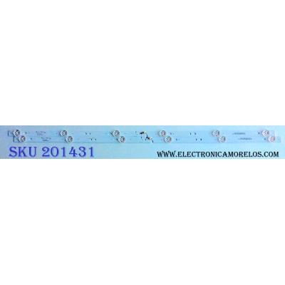 KIT DE LED´S PARA TV (2 PIEZAS) / ELEMENT 6501L618000020 / 06-32C2X6-618-M07W14 / 230132C1N00270 / YF-J52L003JB3D-0001 / PANEL JLTY315A082 / MODELO ELEFW328