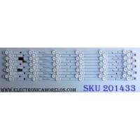KIT DE LED´S PARA TV (10 PIEZAS) / ATYME SQY49LB_6X10_MCPCB_V0 / AE0110390 / C796L1 / SERIE K033LH7A101108 /  PANEL LSC490FN08 / MODELOS 490AM7UD K033LH7A / 490AM7UD