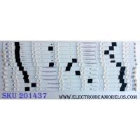 KIT DE LED´S PARA TV (12 PIEZAS) / JVC IC-B-VZAA55D350A / 098101022182 / IC-B-VZAA55D350B / 098101022183 / IC-B-VZAA55D350C / 098101022184 / IC-B-VZAA55D350D / 098101022185 / F95M5LP40F / E30804 / PANEL HV550WU2-370 / MODELO EM55FTR