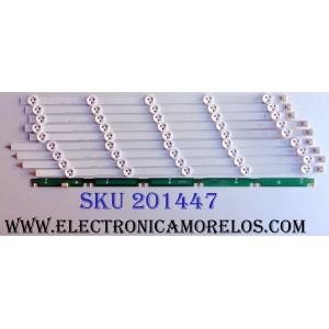 KIT DE LED´S PARA TV (SOLO 9 PIEZAS) / LG 6637L-0021A / 6916L-1241A / 6916L-1273A / 6916L-1272A / 6916L-1276A / PANEL LC500DUE (SF)(R2) SUS.LC500DUE (SF)(U1) / MOD. 50LN5400-UA 50LN540V 50LN5600-UI BUSYLHR E500I-A0 / 50L3400U / MAS MODELOS EN DESCRIPCION
