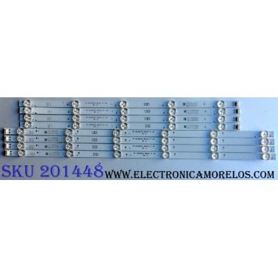 KIT DE LED´S / LG SDL550WY(LD0-910) / RF-AZ550E30-0601B-12 / YAL13-00630300-41 / 27B0752 R7B26 / RF-AZ550E30-0501A-12 / YAL13-00530300-24 / 27B0751 R7B26 / MODELO 55UJ6200-UA.CUSYLH