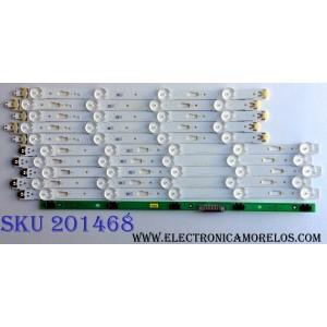 KIT DE LED`S PARA TV (10 PIEZAS) / SAMSUNG BN96-34791A / 34792A / LM41-00117C / 00117B / PANEL CY-GY040HGLVCH / SUSTITUTOS CY-GJ040HGLVDH CY-GJ040HGLVGH CY-GJ040FLLV1H CY-WJ040HGLV1H CY-GJ040HGLVFH / MOD. UN40MU6290 UE40JU6050 / MAS MODELOS EN DESCRIPCION