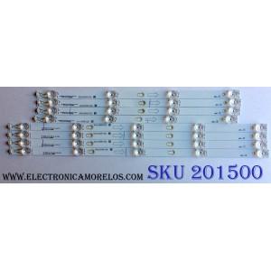 KIT DE LED´S PARA TV (8 PIEZAS) / TCL 040219-GS7XFP / YHF-4C-LB5504-YH07J / YHF-4C-LB5505-YH07J / TOT_55D2900_4X4+4X5_3030C_d6t-2d1_A_4S1P / TOT_55D2900_4X4+4X5_3030C_d6t-2d1_B_5S1P / PANEL LVU550ND1L / LVU550ND1L09W10 / MODELO 55S401