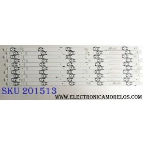 KIT DE LED´S PARA TV (10 PIEZAS) / SHARP SVH550AL2&SVH550AL3_REV03_5LED_UBH+SILK_160615 / JP-3 94V-0 E306084 / PANEL HD550K3U82-L2K1B1 / MODELO LC-55P6000U