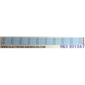 KIT DE LED´S PARA TV (4 PIEZAS) / SCEPTRE CRH-K403535T041037F-REV1.0 / E341134 / 207481 / A7M01J56PAA1630K / PANEL CN40HB772 / MODELOS X40 SBNV93CD / X40
