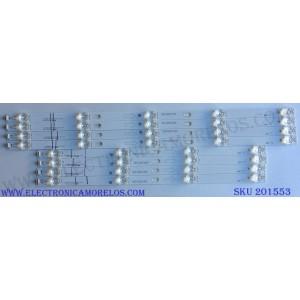 KIT DE LED´S PARA TV (8 PIEZAS) / SCEPTRE TOT_55D2900_4X4-4X5_3030C_d6t-2d1_A_4S1P / TOT_55D2900_4X4-4X5_3030C_d6t-2d1_B_5S1P / YHB-4C-LB5504-YH07J / YHB-4C-LB5505-YH07J / PANEL CN40HB772 / MODELO X40 SBNV93CD
