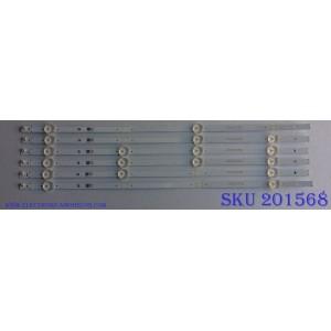 KIT DE LED´S PARA TV (6 PIEZAS) / INSIGNIA SVA500A53_Rev04_4LED_160121 / SJHAZ / JP-1 94V-0 E306084 / PANEL 96.50S12.D01 / MODELO NS-50D510NA17