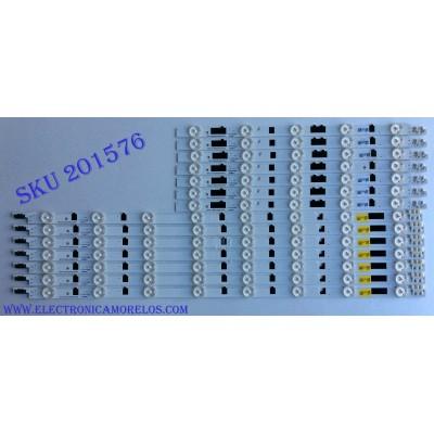 KIT DE LED´S PARA TV ( 14 PIEZAS) / SAMSUNG D2GE_400SCA-R3 / D2GE_400SCB-R3 / 25304A / 25305A / PANEL CY-HF400CSLV3H / MODELO UN40F6300AFXZA UU04