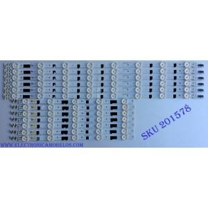 KIT DE LED'S PARA TV ((INCOMPLETO SOLO 13 PIEZAS)) / SAMSUNG D2GE-400SCA-R3 / D2GE-400SCB-R3 / 25304A / 25305A / BN41-01970A / 2013SVS40F / 130212 / PANEL CY-HF400BGLV1H / MODELOS UE40F6740 / UA40F5300 / UN40F6400 / HG40AB670 MAS MODELOS EN DESCRIPCION