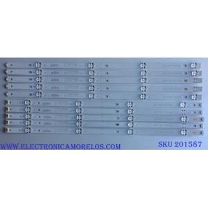 KIT DE LED´S PARA TV ( 10 PIEZAS) / LG SSC_55LJ55/55UJ63_A_8LED_REV02_170224 / SSC_55LJ55/55UJ63_B_8LED_REV02_170224 / 55LJ55_FHD_A / 55UJ63_UHD_A / 55LJ55_FHD_B / 55UJ63_UHD_B / 25R1B / 550P3 / PANEL NC550DUE AAFX1 / MOD. 55LJ5500-UB / 55LJ5500-UA