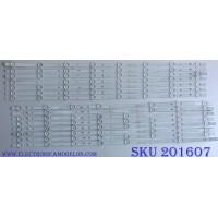 KIT DE LED´S PARA TV / VIZIO S750QF57 V.1 / SVA750A13_W1cop_BLED_Rev03_L_161110 / PC64127B / ZK-3 E320262 / 58.75S0H.E01 / 58.75S0H.E02 / MODELO E75-E1 LTMAGRMT