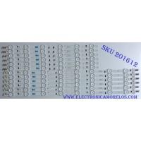KIT DE LED´S PARA TV ( 12 PIEZAS) SAMSUNG BN96-33495A / BN96-33496A /SAMSUNG_2014SVS65_CURVED_3228_R09_REV1.0 / SAMSUNG_2014SVS65_CURVED_3228_L09_REV1.0 / 33495A / 33496A / LM41-00093A / LM41-00091Y / PANEL CY-VH065FGLV2H / MODELO UN65HU7250FXZA UH02