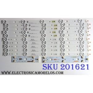 KIT DE LED'S PARA TV (10 PIEZAS) / SONY 2013SONY40A / SAMSUNG 2013SONY40A 3228 05 REV1.0 130927 / SAMSUNG 2013SONY40B 3228 05 REV1.0 130927 / 1-889-701-12 / 1-889-702-12 / 173476712  / E88441 / 047S5B 09 / PANEL NS4F400DND01 / MODELO KDL-40R470B