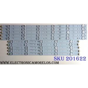 KIT DE LED'S PARA TV (10 PIEZAS) / ATVIO BJSJ46D11L-ZC14F-02 / BJSJ46D11R-ZC14F-02 / E243157 / N23D-U / D23344 / 140214A4 / 75-80LM / PANEL HV460WU2-200 / MODELO LE46D5AFM