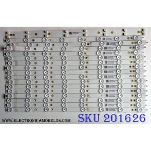 KIT DE LED'S PARA TV (16 PIEZAS) / VIZIO LB50080 / LB50080 V1_01 81075 / 210BZ08D0B3030L00L / PANEL TPT500U1-QVN03.U REV:S7B0A/  MODELO M50-E1