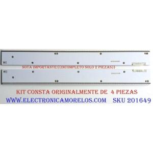 KIT DE LED'S PARA TV (SOLO 2 PIEZAS) / ((INCOMPLETO)) / SAMSUNG BN96-32155A / BN96-32156A / 32155A / 32156A / PARTES SUSTITUTAS BN96-32156A / BN96-32157A / PANEL LSF750FF01-G03 / MODELOS UN75HU8550FXZA / UN75HU8500FXZA