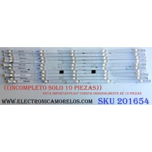 KIT DE LED'S PARA TV (SOLO 10 PIEZAS) / ((INCOMPLETO)) / SHARP JL.D65051330-365AS-M_V02 / 1199095 / 181005 / JL.D65051330  / PANEL HD650S1U71 / HD650S1U71-L1\S0\GM\ROH / MODELO LC-65Q7300U