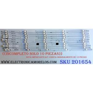 KIT DE LED'S PARA TV (SOLO 10 PIEZAS) / ((INCOMPLETO)) / SHARP JL.D65051330-365AS-M_V02 / 1199095 / 181005 / JL.D65051330  / PANEL HD650S1U71 / HD650S1U71-L1\S0\GM\ROH / MODELO LC-65Q7300U