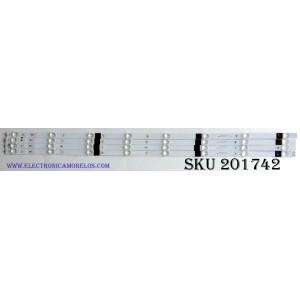 KIT DE LED'S PARA TV (4 PIEZAS) / HISENSE HISENSE43 1187919 / 08348 / E334789 SS-L / 4X8-20171011 / PANEL JHD425S1U51-L2\S0\GM\ROH / MODELO 43RGE