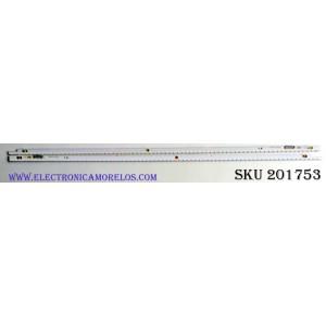 KIT DE LED'S PARA TV (2 PIEZAS) / BN96-21464A / BN96-21465A / 2012SVS55-7032NNB 2D / 21465A / 21464A / PANEL LTJ550HJ08-V / MODELO UN55ES6150 / UN55ES6600 / UN55ES6580 / UN55ES6550 / UN55ES6100 / UN55ES6003 / LH55MEBPLGA/ZA / UN55ES6150FXZA TS01