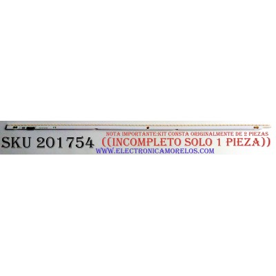 LED PARA TV ((INCOMPLETO SOLO 1 PIEZA)) / SAMSUNG BN96-21464A / BN96-21465A / 2012SVS55 / 7032NNB 2D / 21465A / 21464A / PANEL LTJ550HJ08-V / MODELOS UN55ES6150 / UN55ES6600 / UN55ES6580 / UN55ES6550FXZA / UN55ES6500 / UN55ES6100 / UN55ES6003 / LH55MEBP