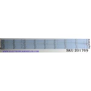 KIT DE LED'S PARA TV (6 PIEZAS) / WESTINGHOUSE GKB5.948.3018 / GKB7.820.3816 / 48609-E / PANEL D480D3-GG58.C0X / LSC480HN05-B01 / MODELO DWM48F1Y1