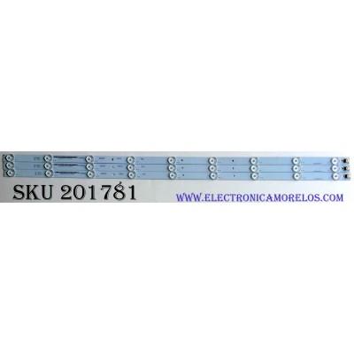 KIT DE LED'S PARA TV (3 PIEZAS) / B-HWBW39D741 / M111BA4HW50 / 4638DX007 / 21005324 / PANEL LC390TA2A / MODELO