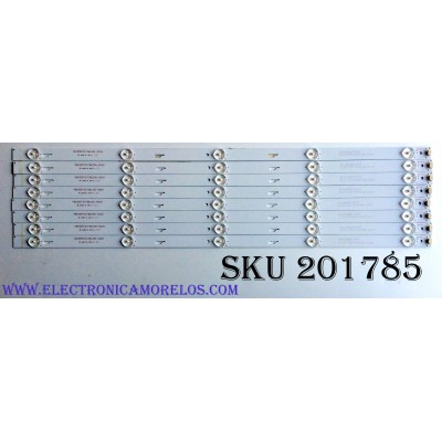 KIT DE LED'S PARA TV (8 PIEZAS) / INSIGNIA 4C-LB550T-GY2 / 3 L07 C73 VF16 N57 D 217 / PB15D572173BL051-002H / PANEL ST5461B05-2 / MODELO NS-55D421NA16