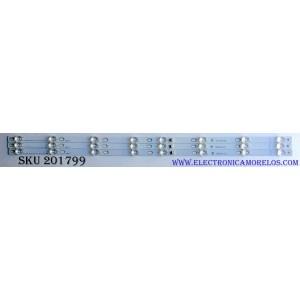 KIT DE LED'S PARA TV (3 PIEZAS) / TCL 4C-LB4308-YH05J / TOT_43D2900_3X8_3030C_d6t_4S1PX2 REV.V2 / YHA-4C-LB4308-YH05J / 150717 / YHA-4C-LB4308-YH05J / E334789 / PANEL LVU430AU0T E5 V1 / MODELO 43S405