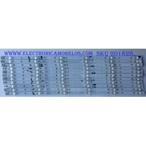 KIT DE LED'S PARA TV (12 PIEZAS) / SHARP / LB65073 V0 SS-L / 1196863 / PANEL HD650S1U71\S8\GM\ROH  / MODELO LC-65Q6020U