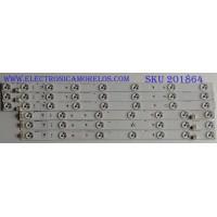 "KIRT DE LED'S PARA TV (6 PIEZAS) PHILIPS / UDULED0GS019 / UDULED0GS020 / INNOTEK 46""NDF REV 0.0 / PANEL  U3FQ0XH / MODELO 46PFL3608/F7"