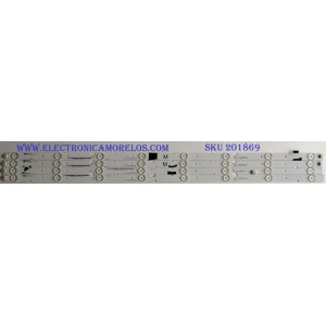 KIT DE LED'S PARA TV ( 4 PIEZAS) / VIZIO / IC-E-VZAA39D266A / IC-E-VZAA39D266B / IC-E-VZAA39D266C / BG-F115M7RP40F / PANEL V390HJ1-P02 REV:C1 /