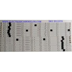 KIT DE LED'S PARA TV (16 PIEZAS) / SHARP / IC-G-VZAA65D390A / IC-H-VAA65D390B / IC-H-VZAA65D390C / F110M8LP39F / PANEL T650HVN12.1 / MODELO LC-65LE654U