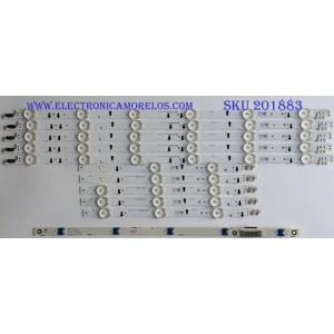 KIT DE LED'S PARA TV (10 PIEZAS) / SAMSUNG / 30449A / 30450A / LM41-00099K / LM41-00099H / SAMSUNG_2014SVS40_3228_L06_REV1.1_131112 NHF / PANEL CY-JGJ040BGLV9H / CY-GH040CSLV1H / MODELOS UA40H5570AULXL / (MAS MODELOS EN DISCRIPCIÓN)