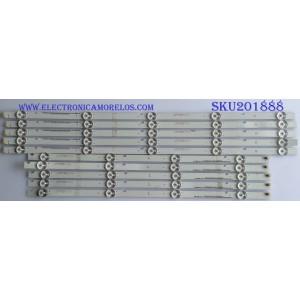 KIT DE LED'S (10 PIEZAS) / VIZIO / I-5000WS80091 / I-5000WS80091-L-V3 / PANEL UT-550T32508 / MODELO E50-F2